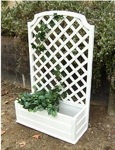 wood container cucumber trellis